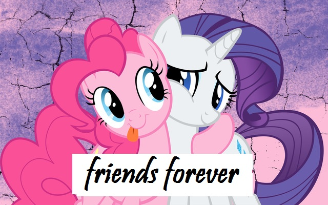 FANMADE_Pinkie_Pie_and_Rarity_friends_forever